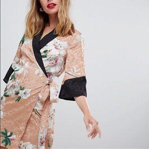 Petite Kimono Wrap Mini Dress